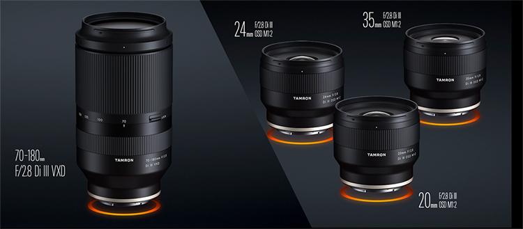 腾龙正式发布3颗索尼E卡口F2.8定焦镜头 长焦70-180mm F2.8明年上市
