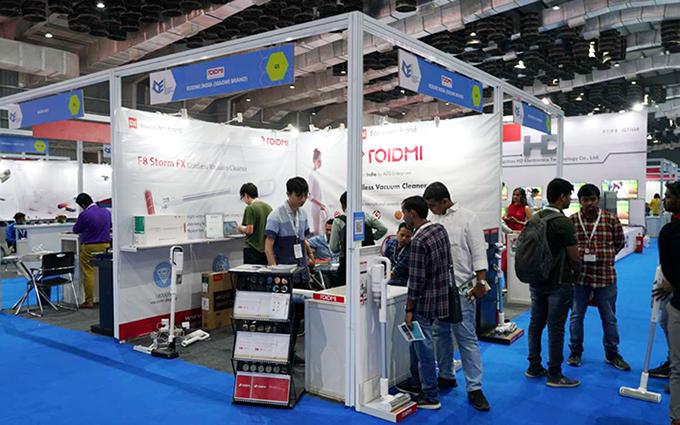 CEI2019 | 睿米新概念家庭吸尘器亮相印度国际消费类电子及家电展览会