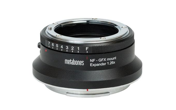 Metabones推出富士GFX用增焦减光环 转接尼康G头无暗角