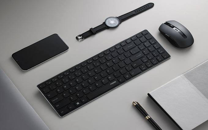 4.9mm刀锋键盘 雷柏9300T无线键鼠套装视频