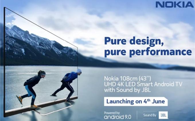 诺基亚将在印度推出新款智能电视:43英寸 售价约3000元人民币