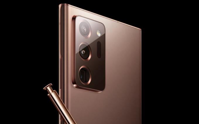 三星官方曝光Galaxy Note 20 Ultra:古铜色,三摄像头设计