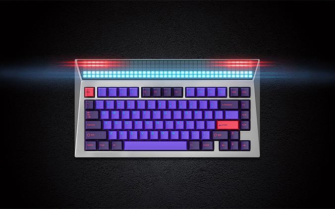 李楠打造怒喵机械键盘CYBERBOARD 配备自定义LED面板