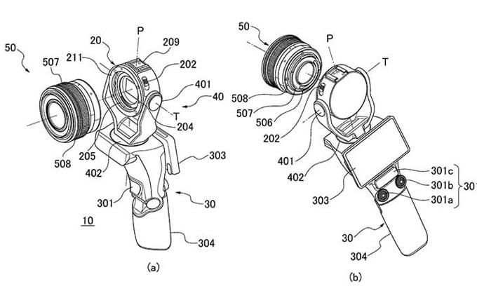 佳能可换镜头云台相机专利曝光 形似大疆osmo