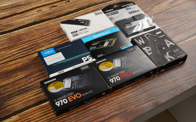 主流M.2固态硬盘怎么选? 7款500G PCIe 3.0固态硬盘横评