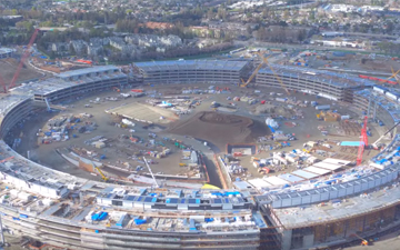 几张图告诉你苹果飞碟总部的施工进度