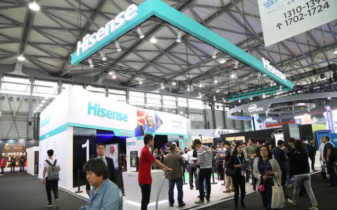 海信携新品8K超画质电视亮相2016CES ASIA