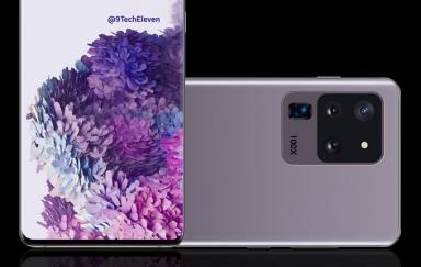 三星Galaxy S20 Ultra准确曝光图曝光:四摄+100倍变焦标识