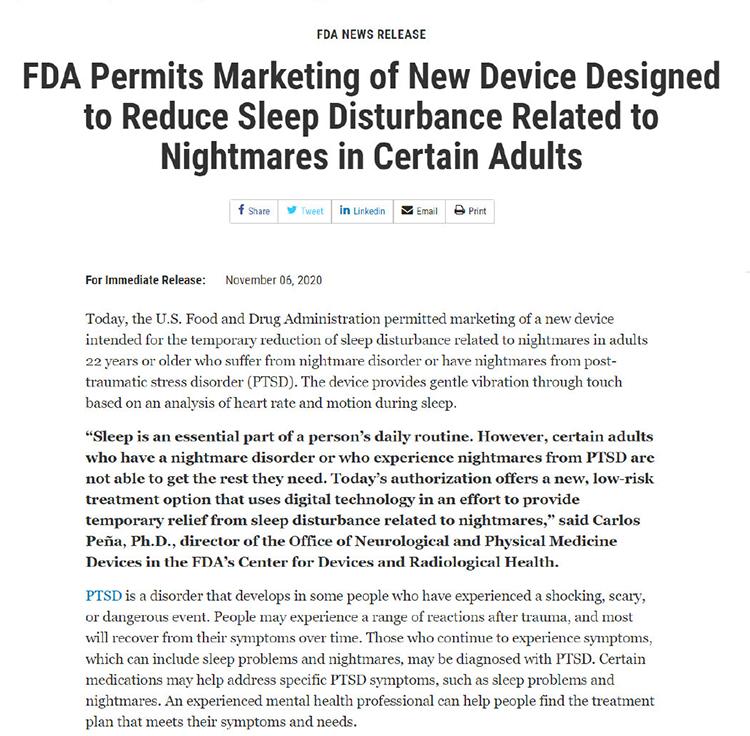 FDA批准Apple Watch新应用上架 可辅助治疗PTSD相关噩梦